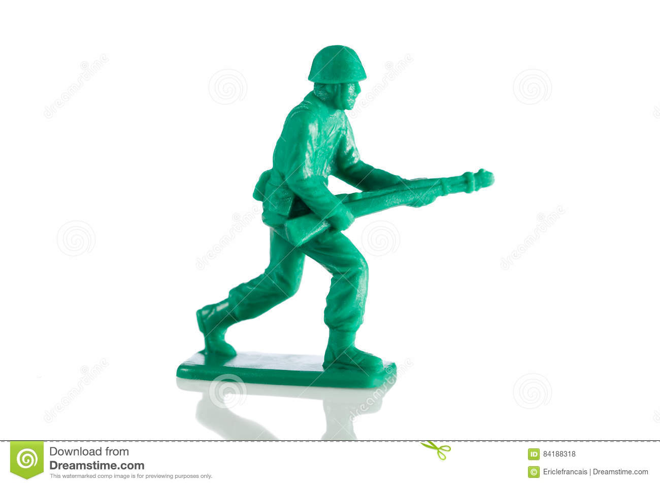 Miniature plastic toy soldier
