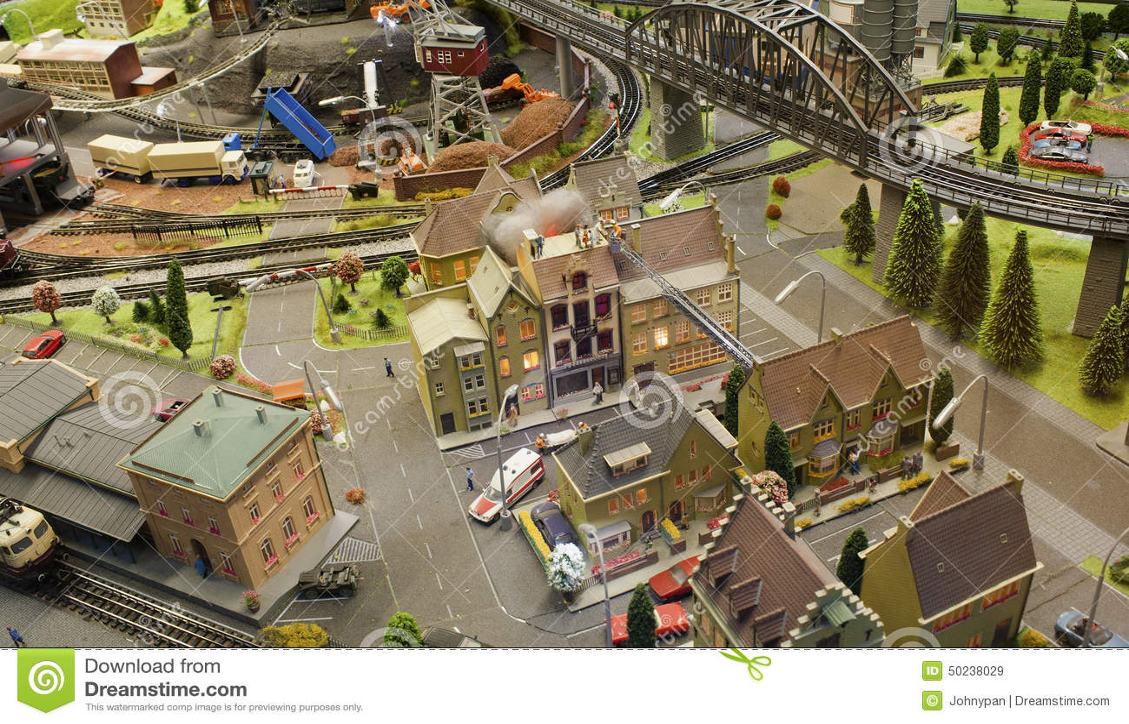 Miniature scene city