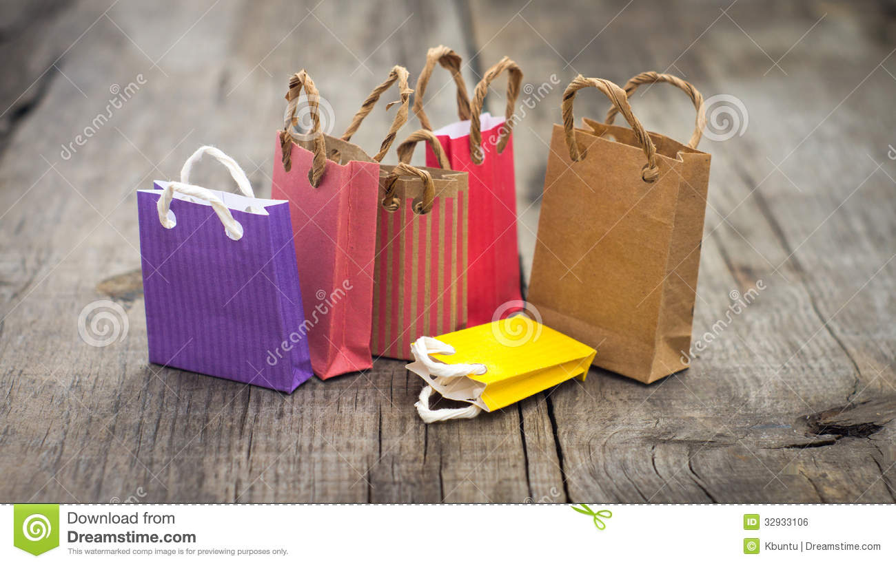 Miniature Shopping Bags Royalty Free Stock Image - Image: 32933106