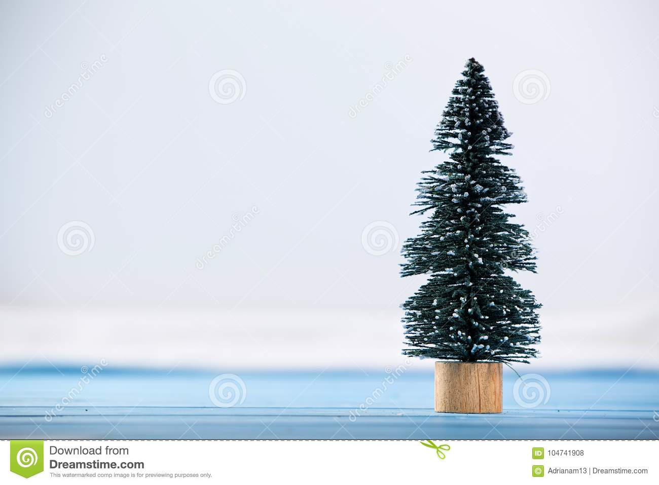 Miniature Toy Christmas Tree Stock Photo - Image of miniature, trees ...