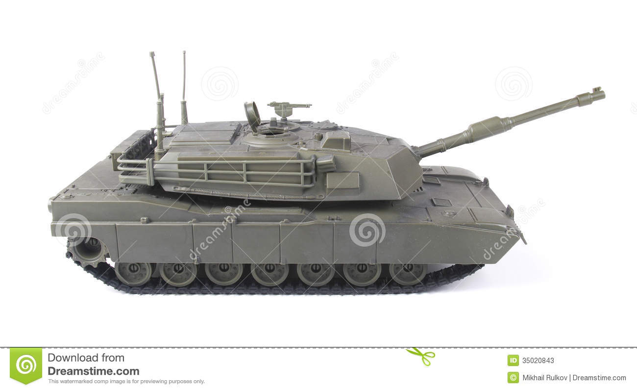 Wooden Toy Tank Miniature toy tank, isolated