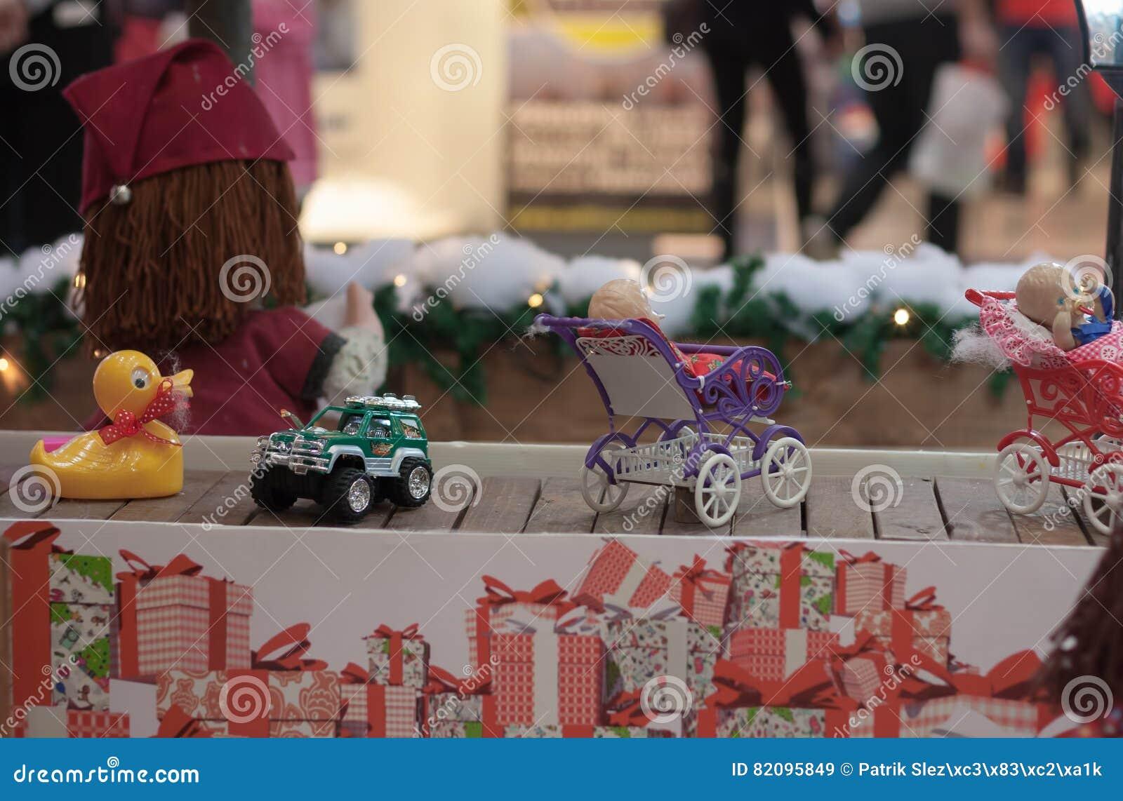 Miniature Toys On Conveyor Belt In Shopping Center Editorial Stock