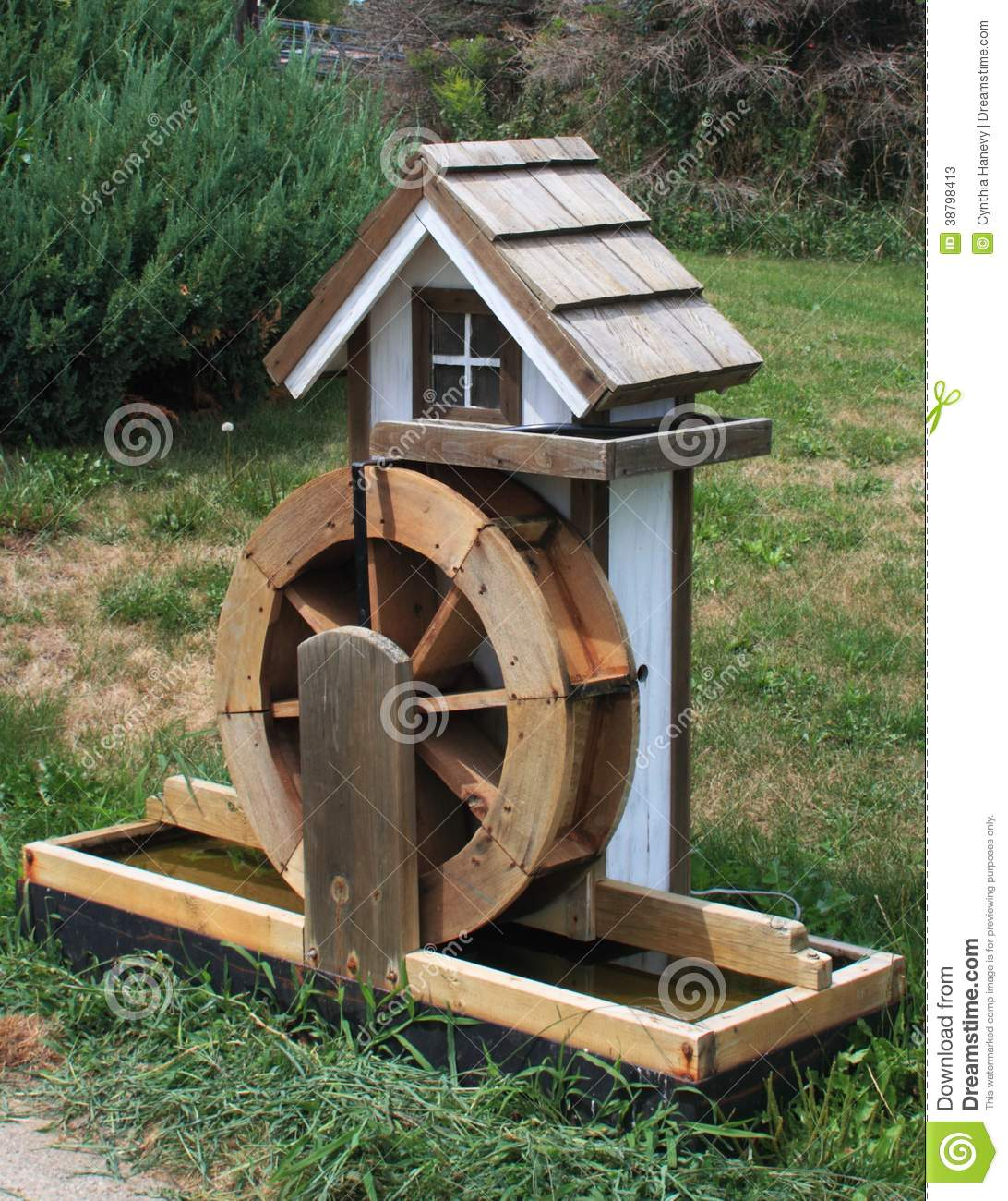 Miniature Water Wheel Stock Photo - Image: 38798413