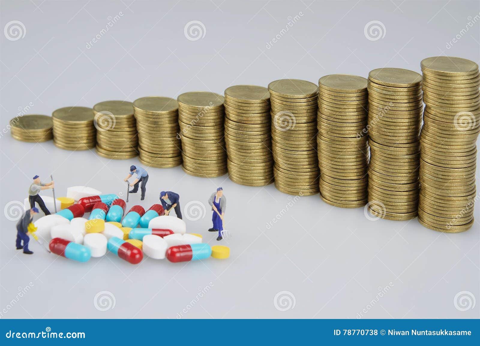 Miniaturleute sind zerstörte Medizin