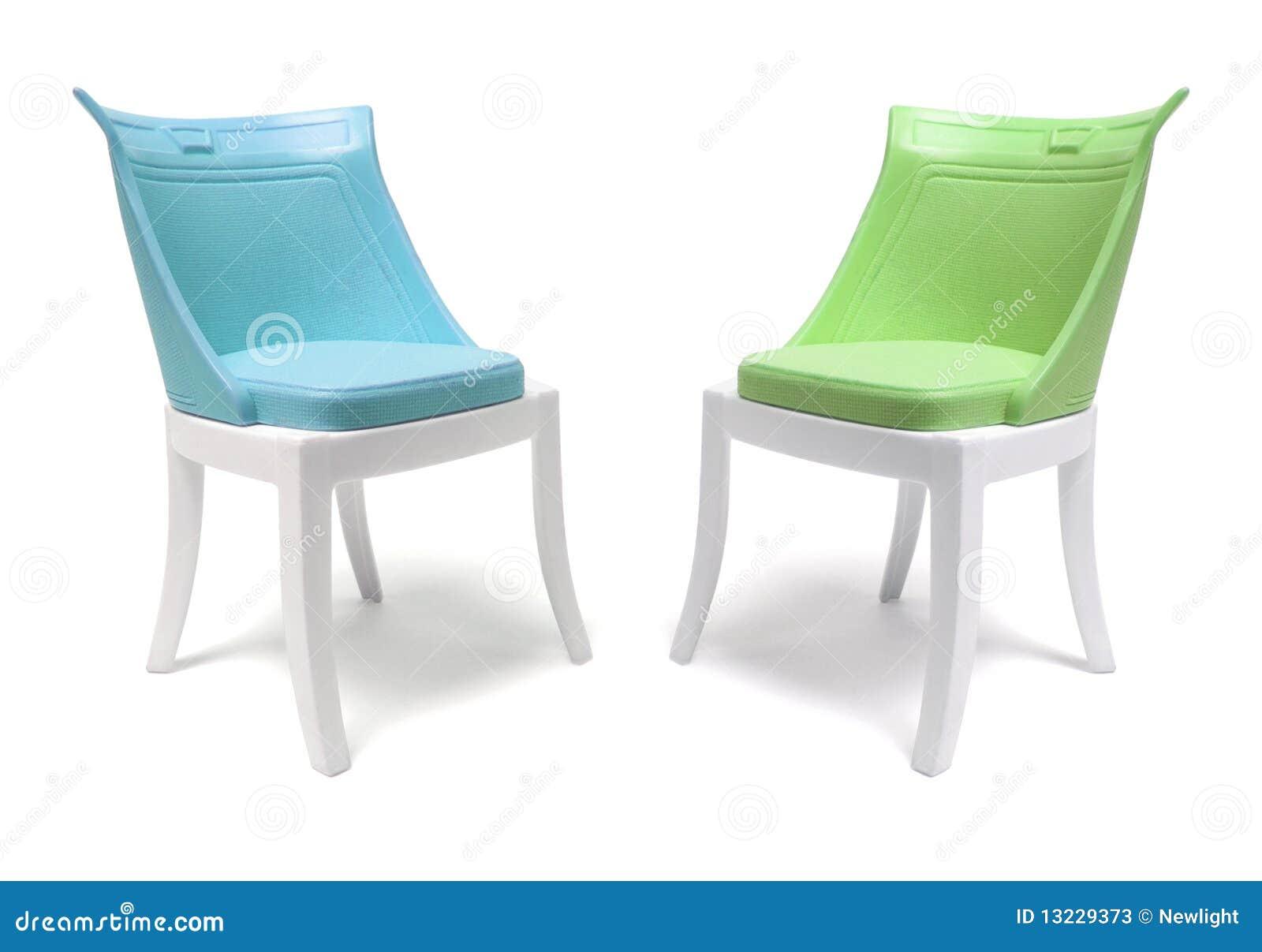 miniatuur plastic stoelen stock afbeelding afbeelding