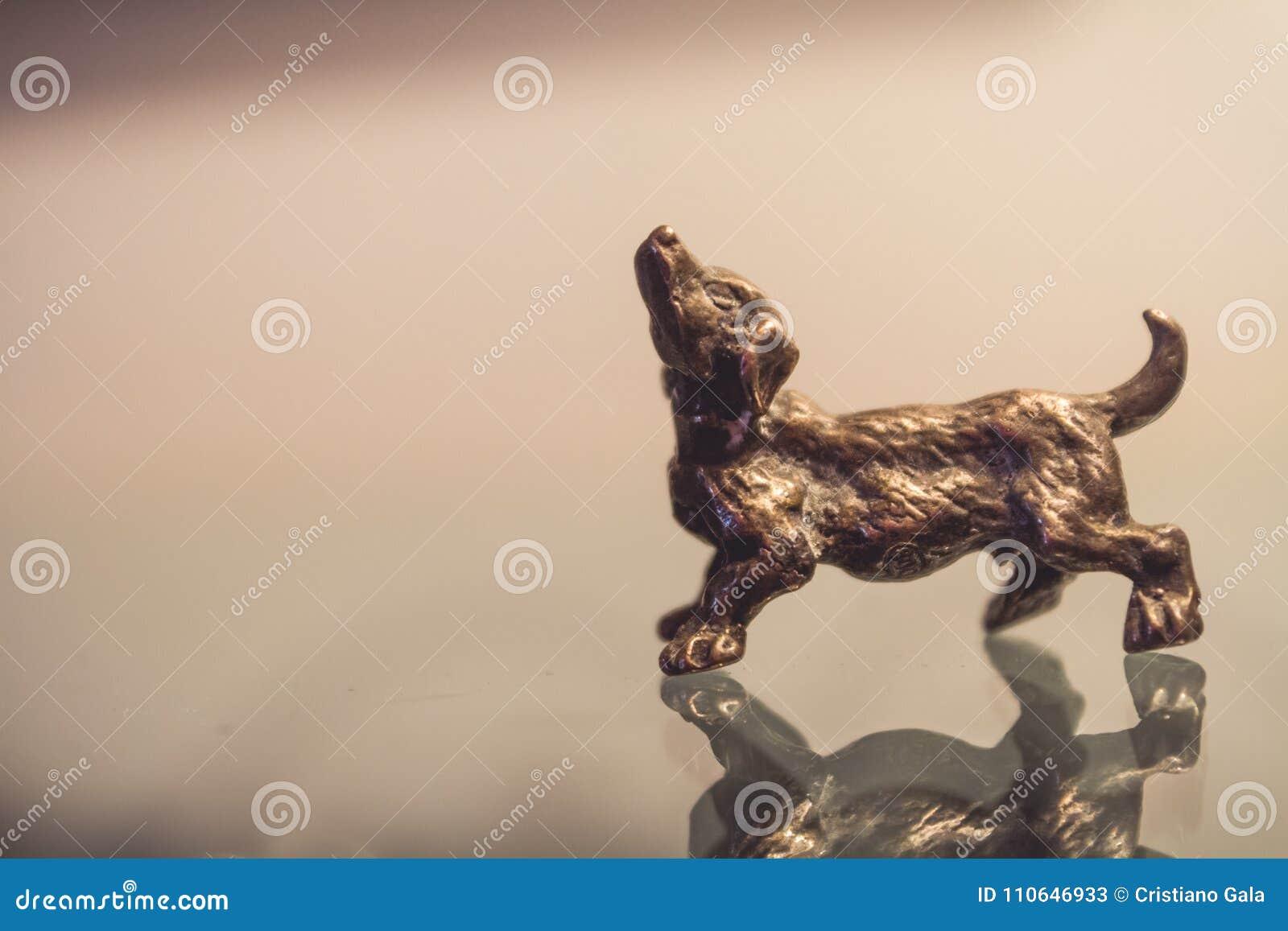 Miniatuur Zilveren Hondcijfer