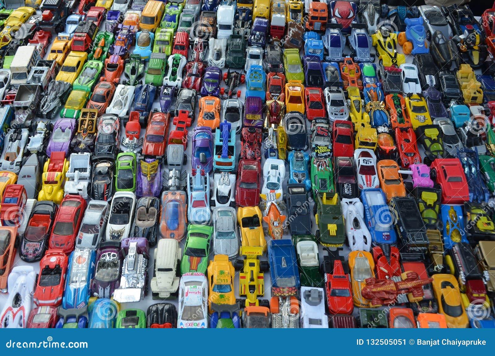Miniatuurstuk speelgoed van de de zondagmarkt van de autoinzameling U van Californië, S A