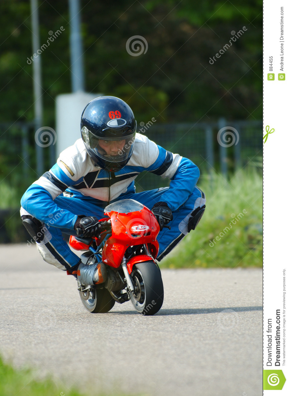 Minibike Racing Royalty Free Stock Photo - Image: 884455