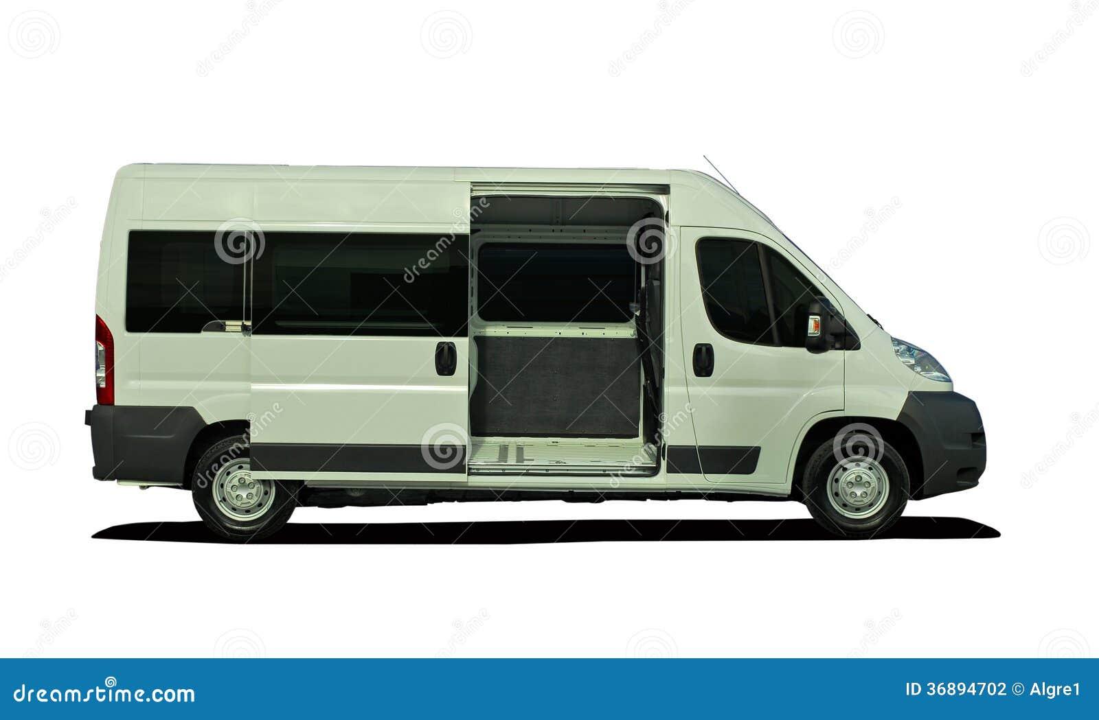 Download Minibus Con La Porta Aperta, Vista Laterale Fotografia Stock - Immagine di trasporti, contratto: 36894702