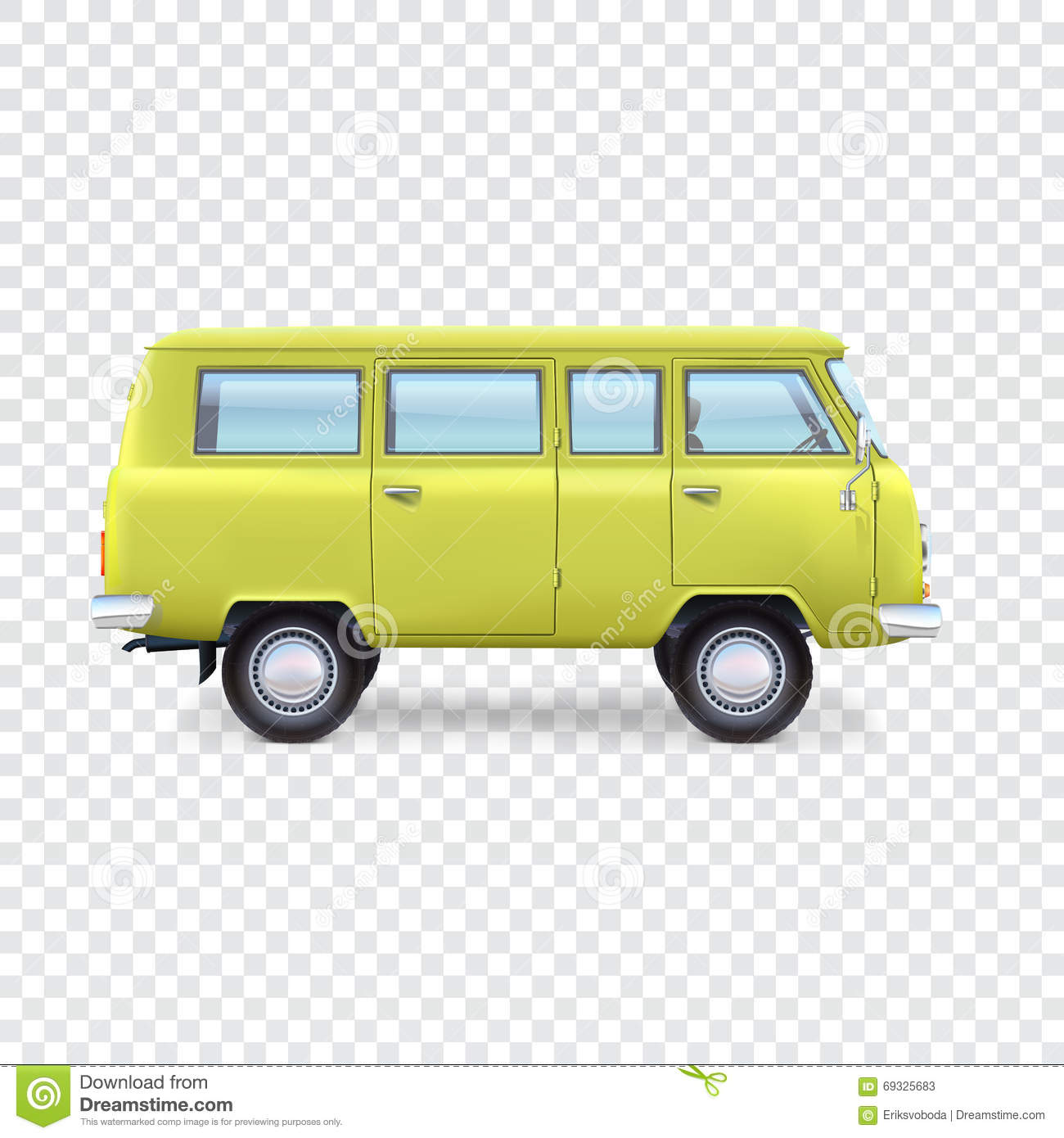 Minibus On Transparent Background Stock Vector Image