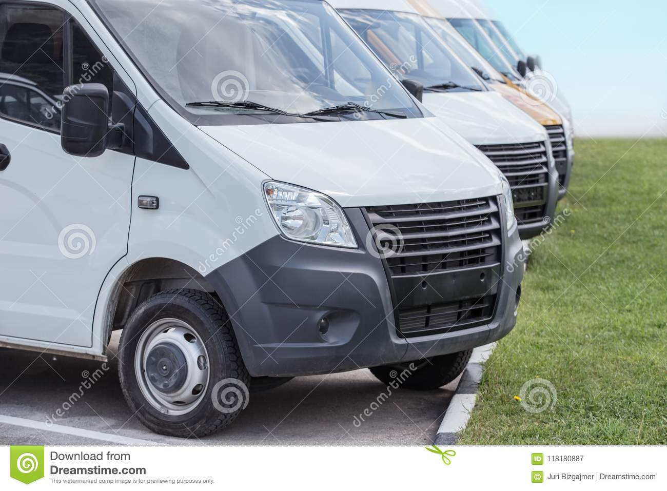 eb2271990b Minibuses and vans outside stock image. Image of parking - 118180887