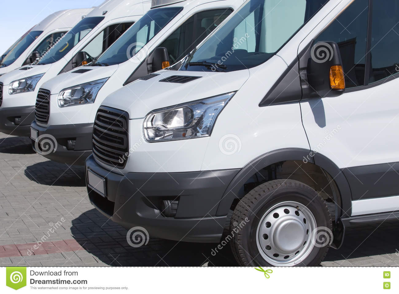 f7622c97bc Minibuses and vans outside stock image. Image of sales - 74476729