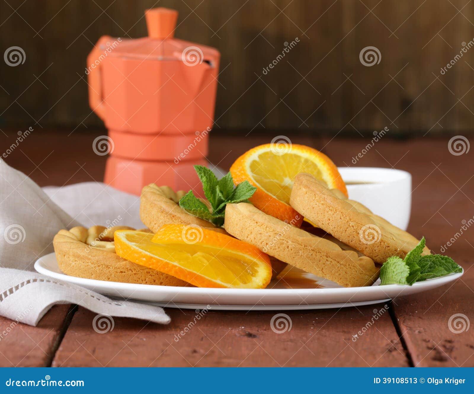 Minidesserttaartjes met sinaasappel