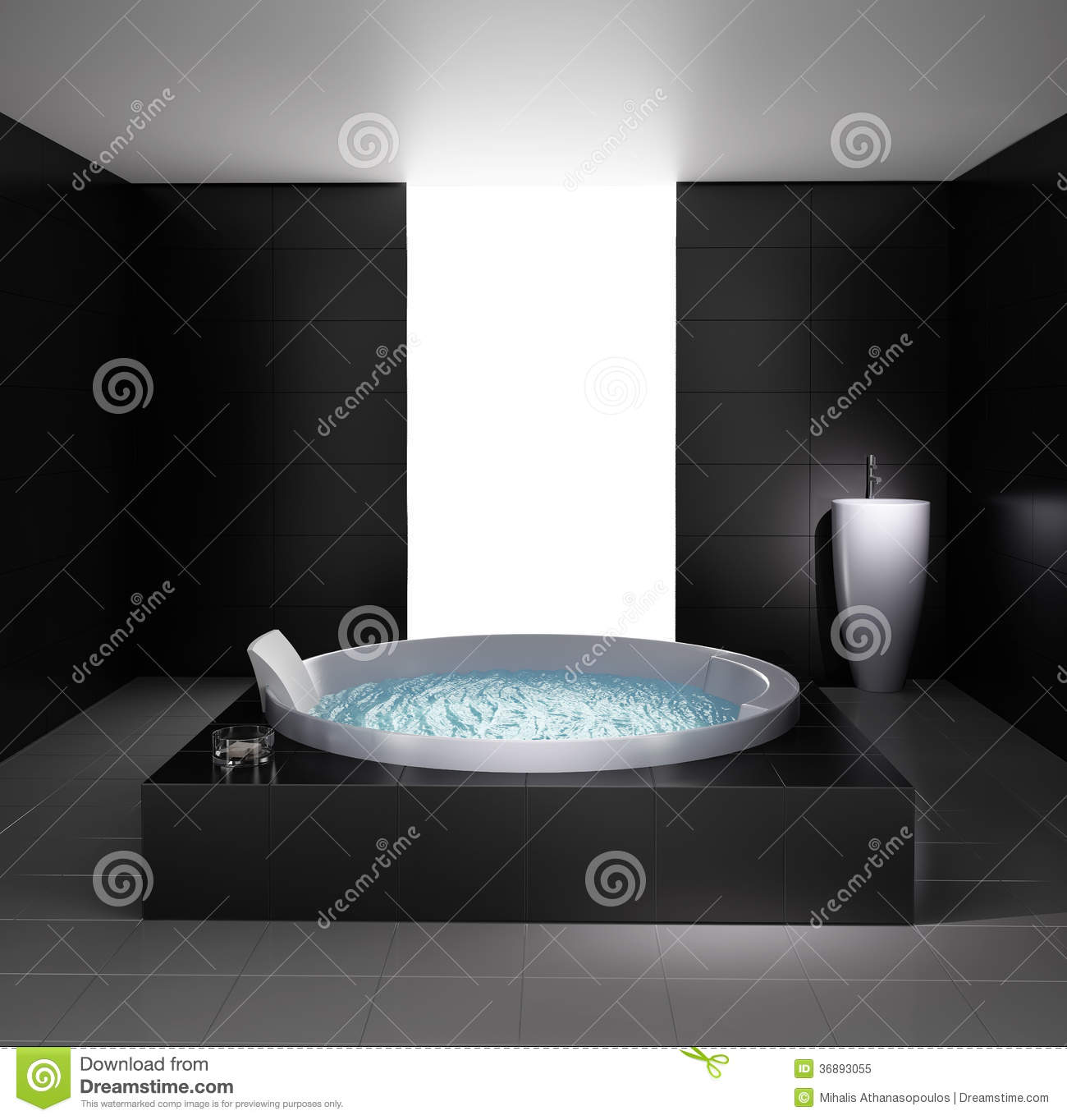 minimal bathroom with jacuzzi bathtub royalty free stock photo image