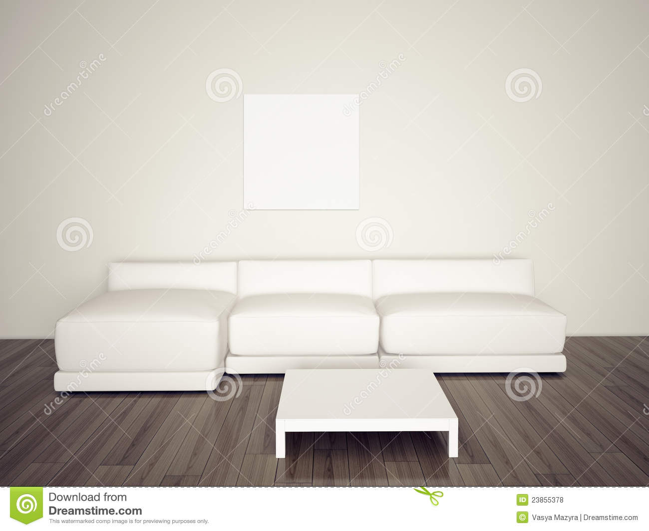 Minimal Blank Interior Couch Royalty Free Stock Photos