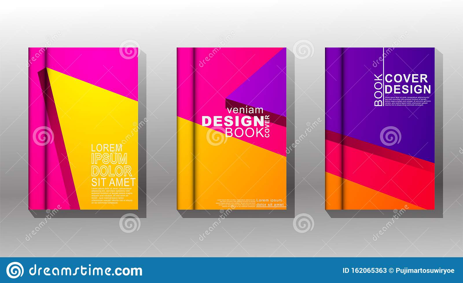 Minimal Book Cover Design With Geometric Shapes Colorful Vector Design Stock Vector Illustration Of Cover Modern 162065363
