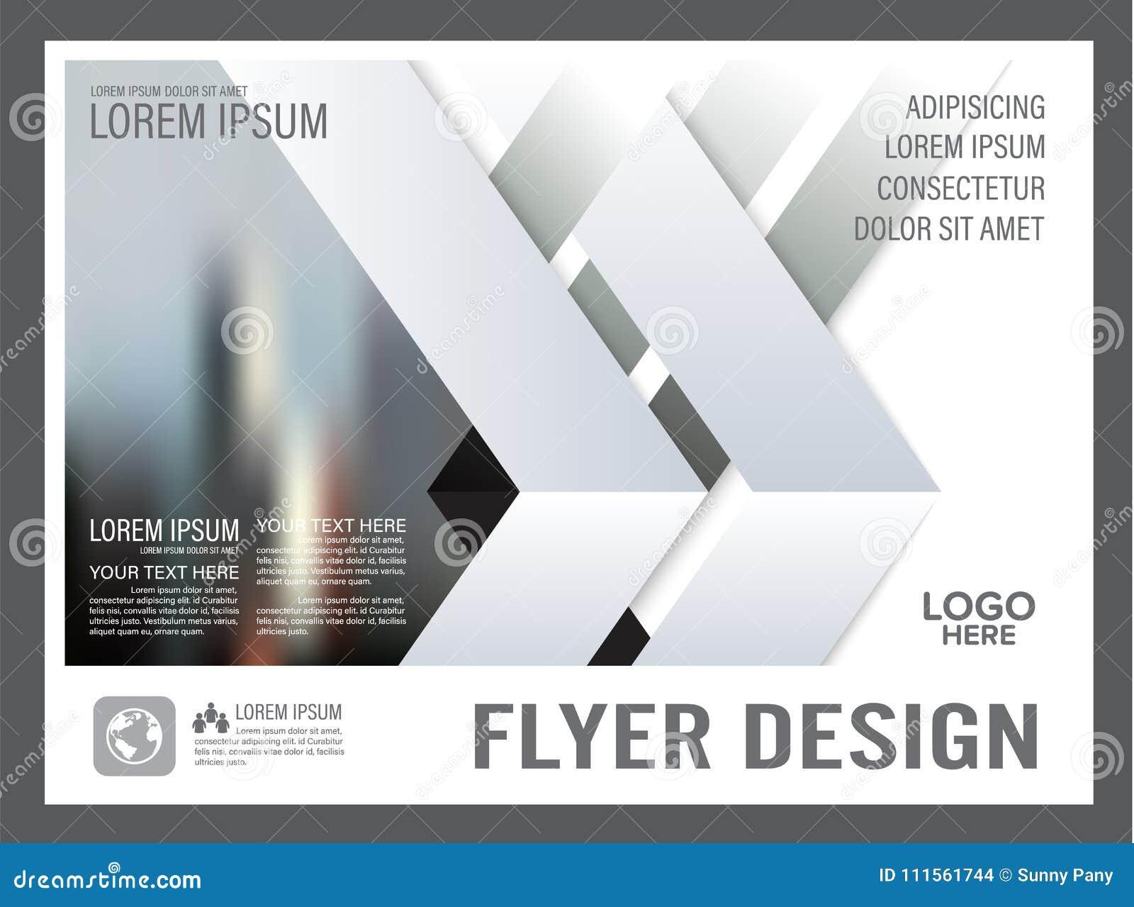 minimal brochure layout design template annual stock illustration