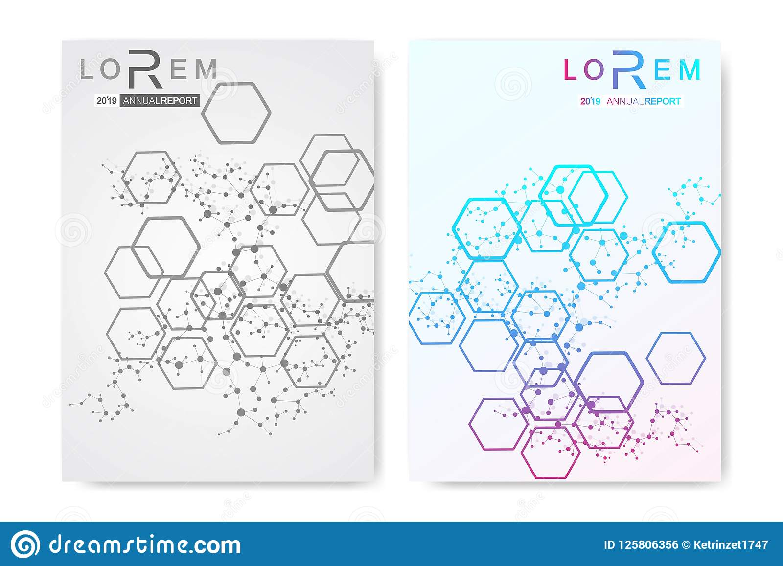 Minimal brochure templates, magazine, leaflet, flyer, cover, booklet, annual report, banner. Scientific concept for