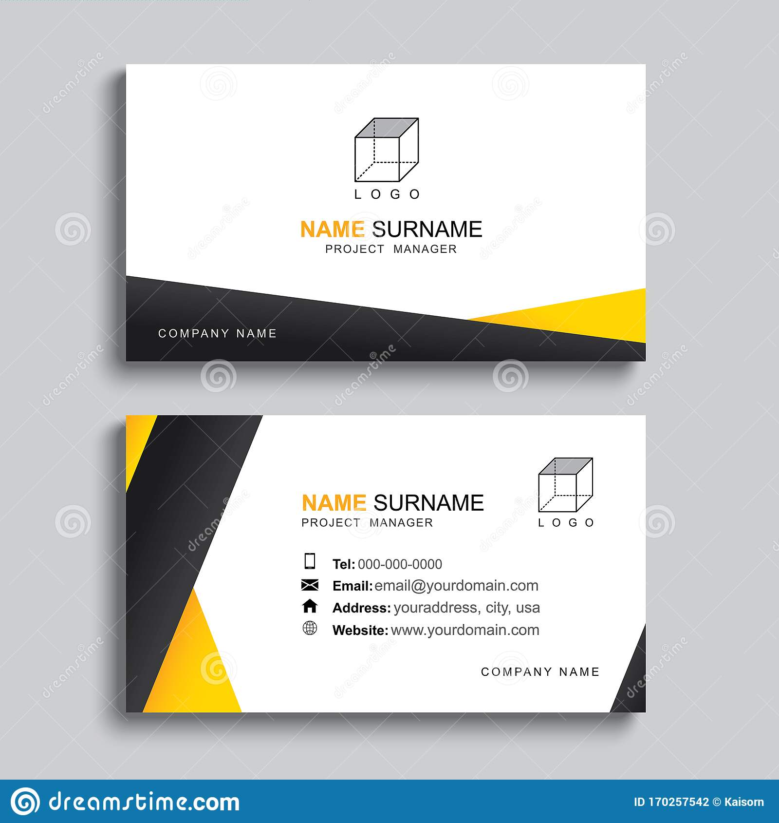 Minimal Business Card Print Template Design. Simple Clean Layout Within Template For Cards To Print Free