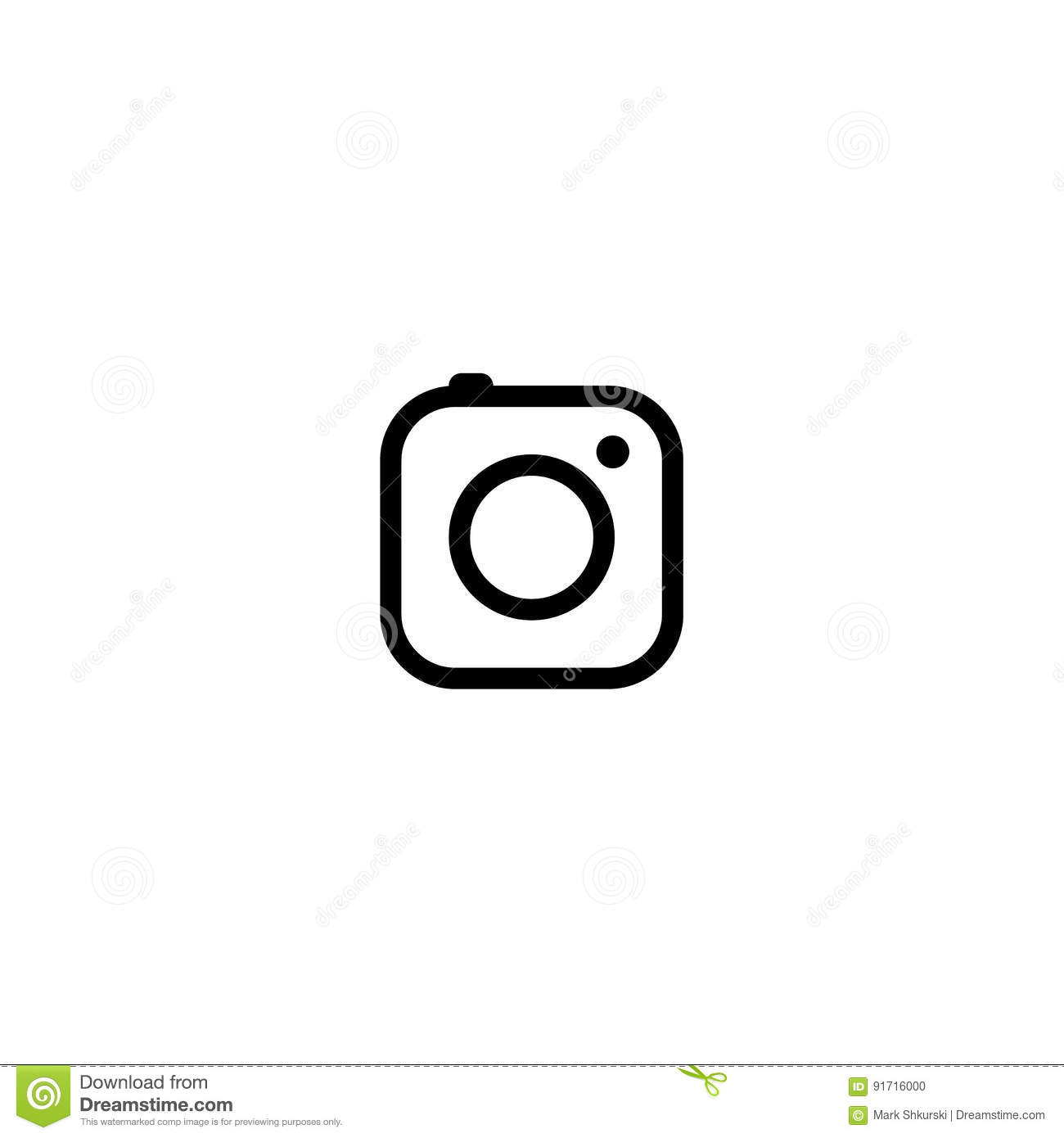 Minimal camera icon stock illustration illustration of for Camera minimal