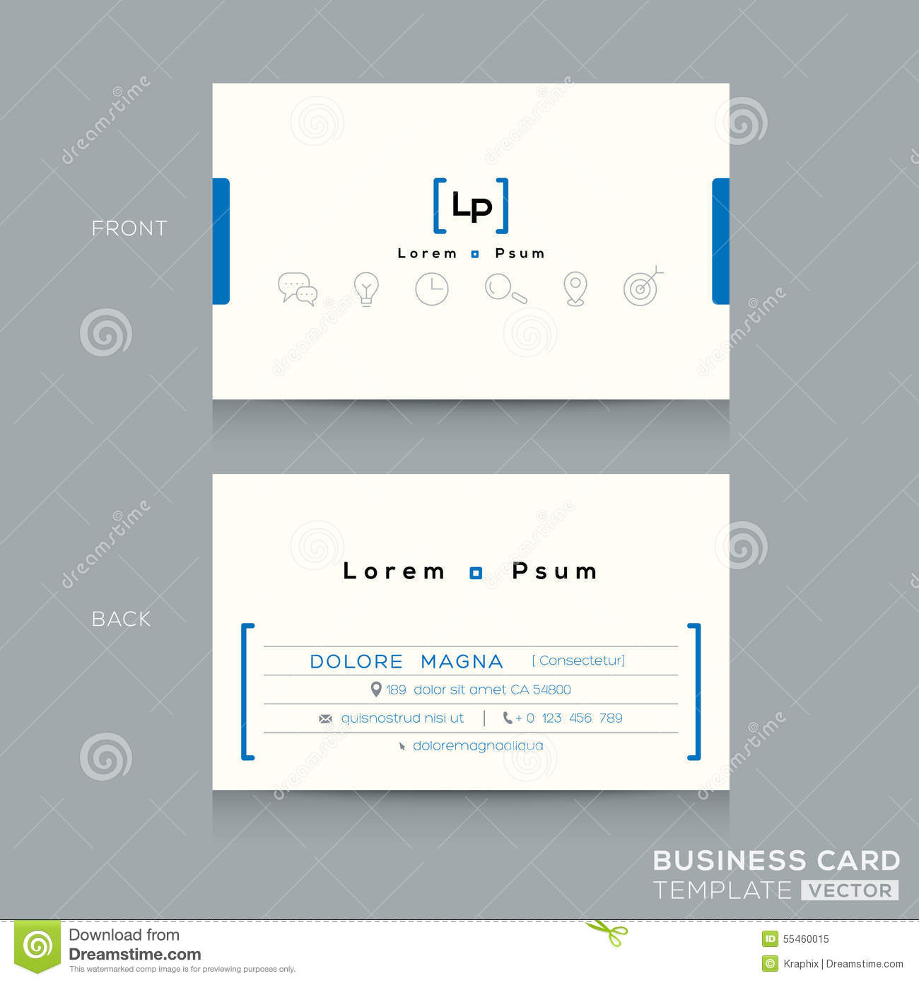 minimal clean design business card template stock vector illustration of background office. Black Bedroom Furniture Sets. Home Design Ideas