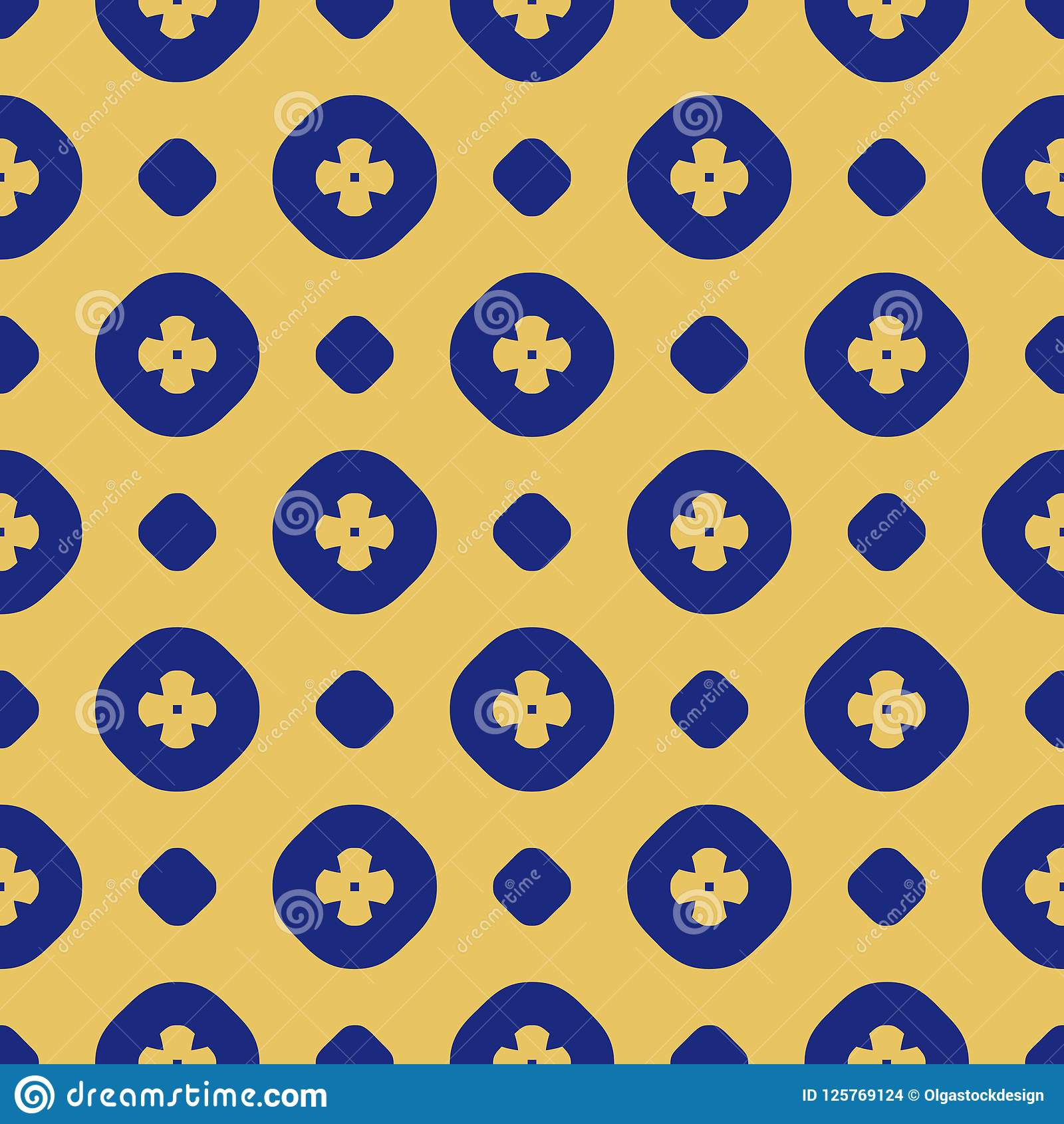 minimal floral background in navy blue and yellow colors stock