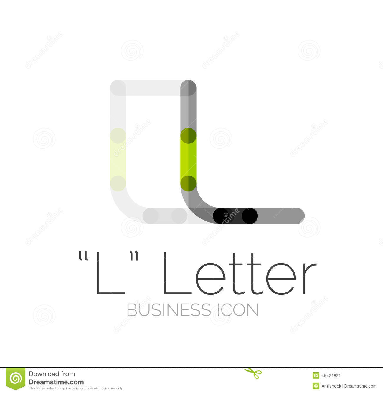 minimal font or letter logo design stock vector