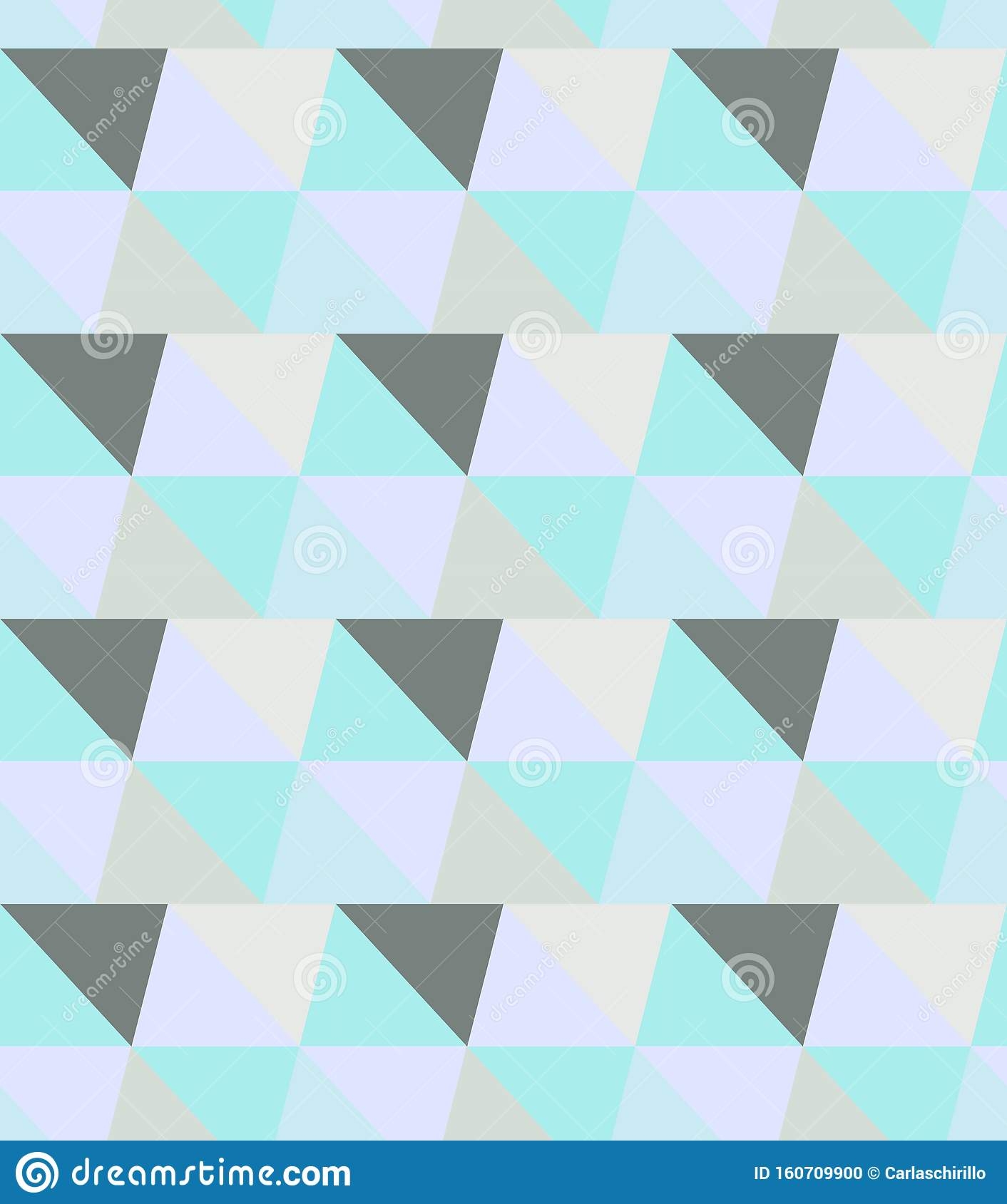 Minimal Geometric Seamless Vector Pattern In Teal And Aqua ...