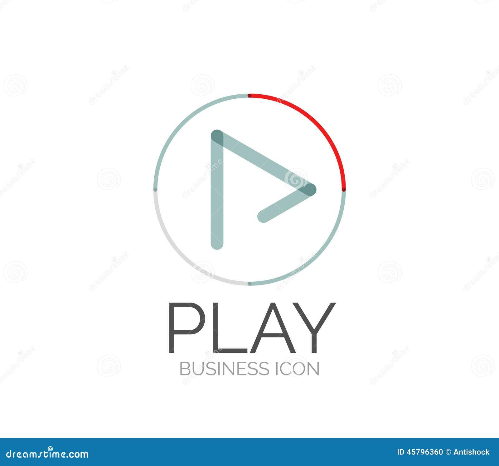 Line Logo Design : Minimal line design logo stock vector image