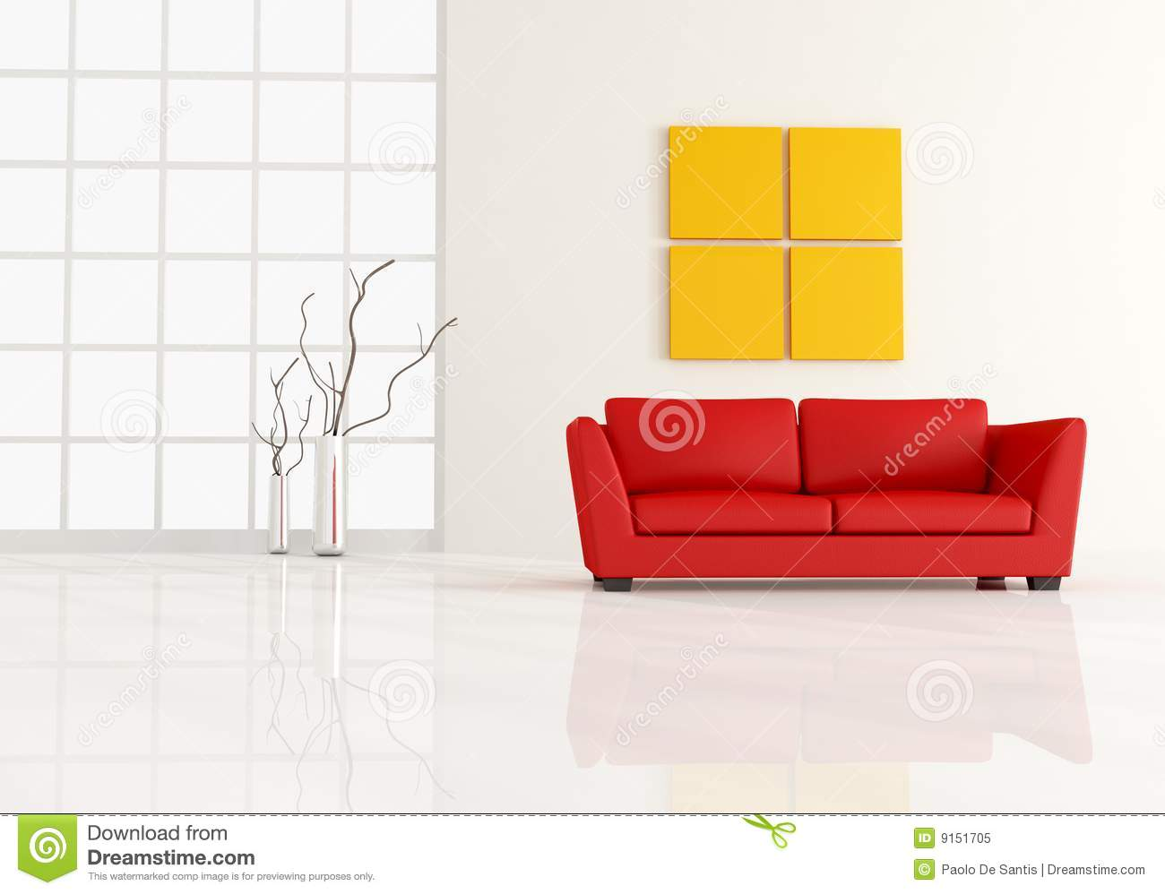 Minimal living room stock illustration. Illustration of apartment ...