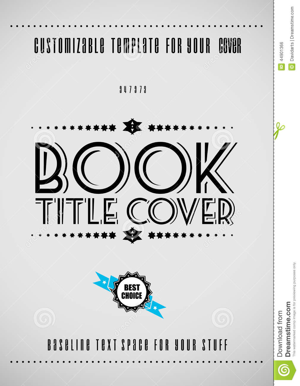 Modern Book Cover Inspiration : Minimal modern book cover template stock vector image