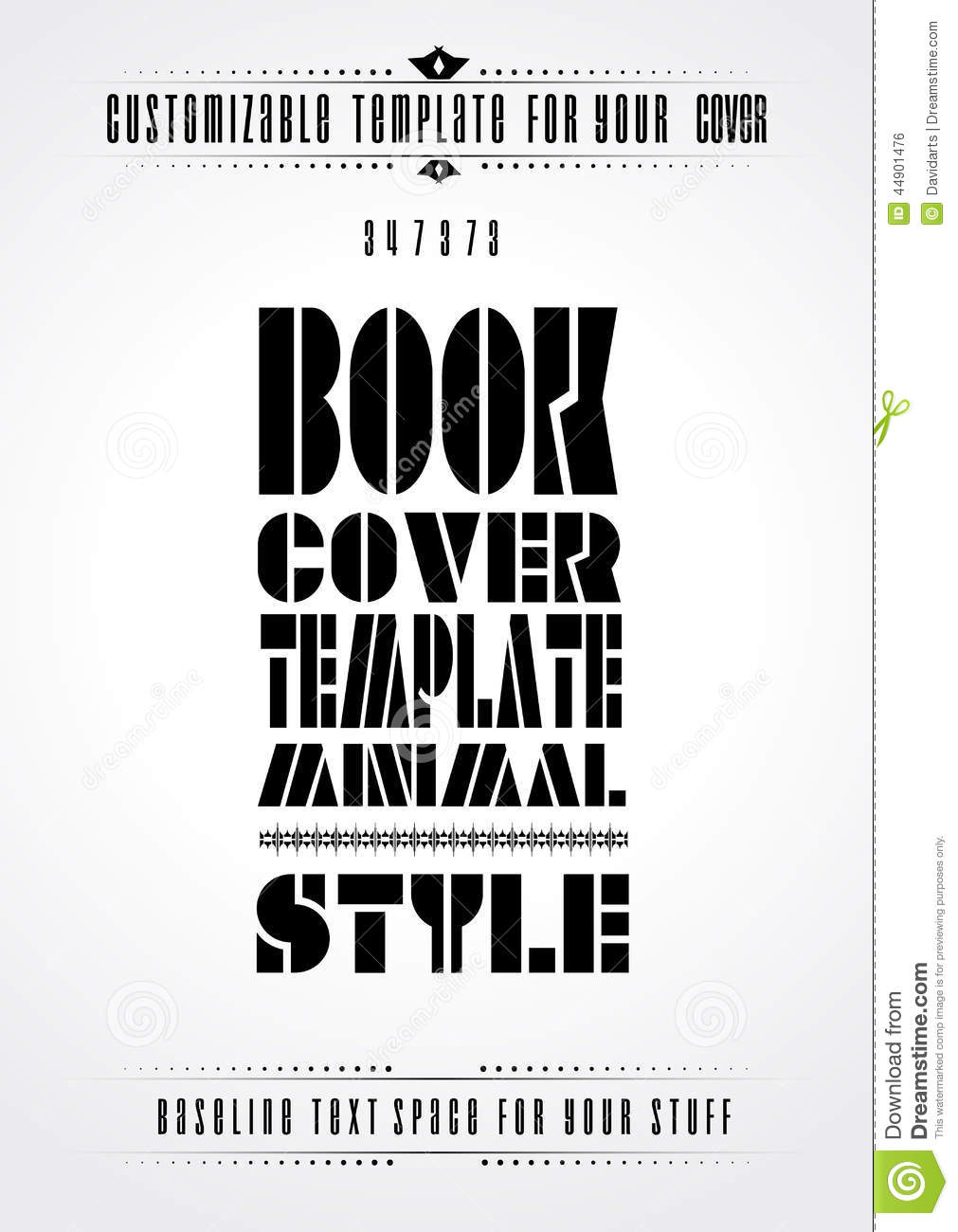 Modern Book Cover Quotes ~ Minimal modern book cover template stock vector image