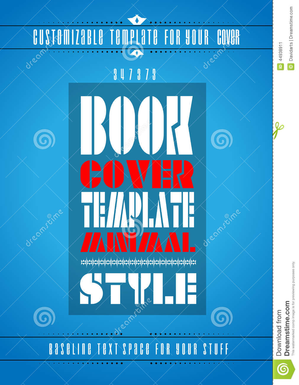 Modern Book Cover Fonts : Cover book digital design minimal style template vector