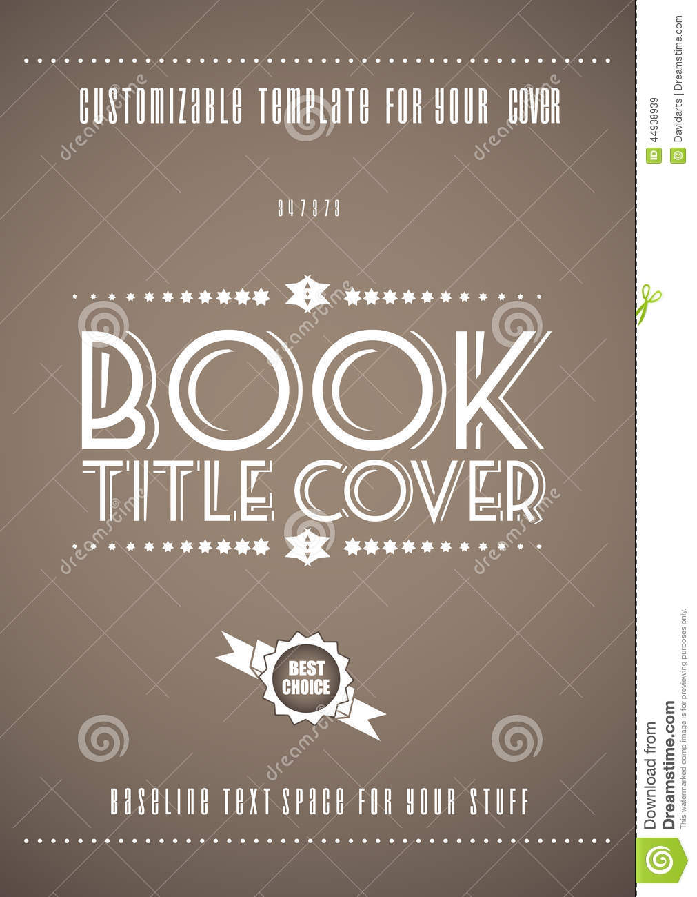 Modern Book Cover Zone ~ Minimal modern book cover template stock vector image