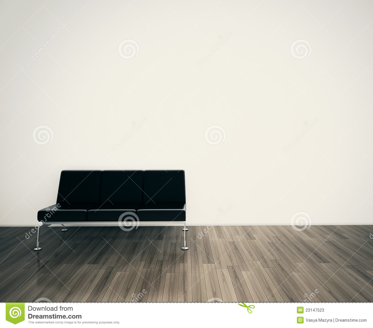 Minimal modern interior couch face blank wall stock photos for What to do with a blank wall