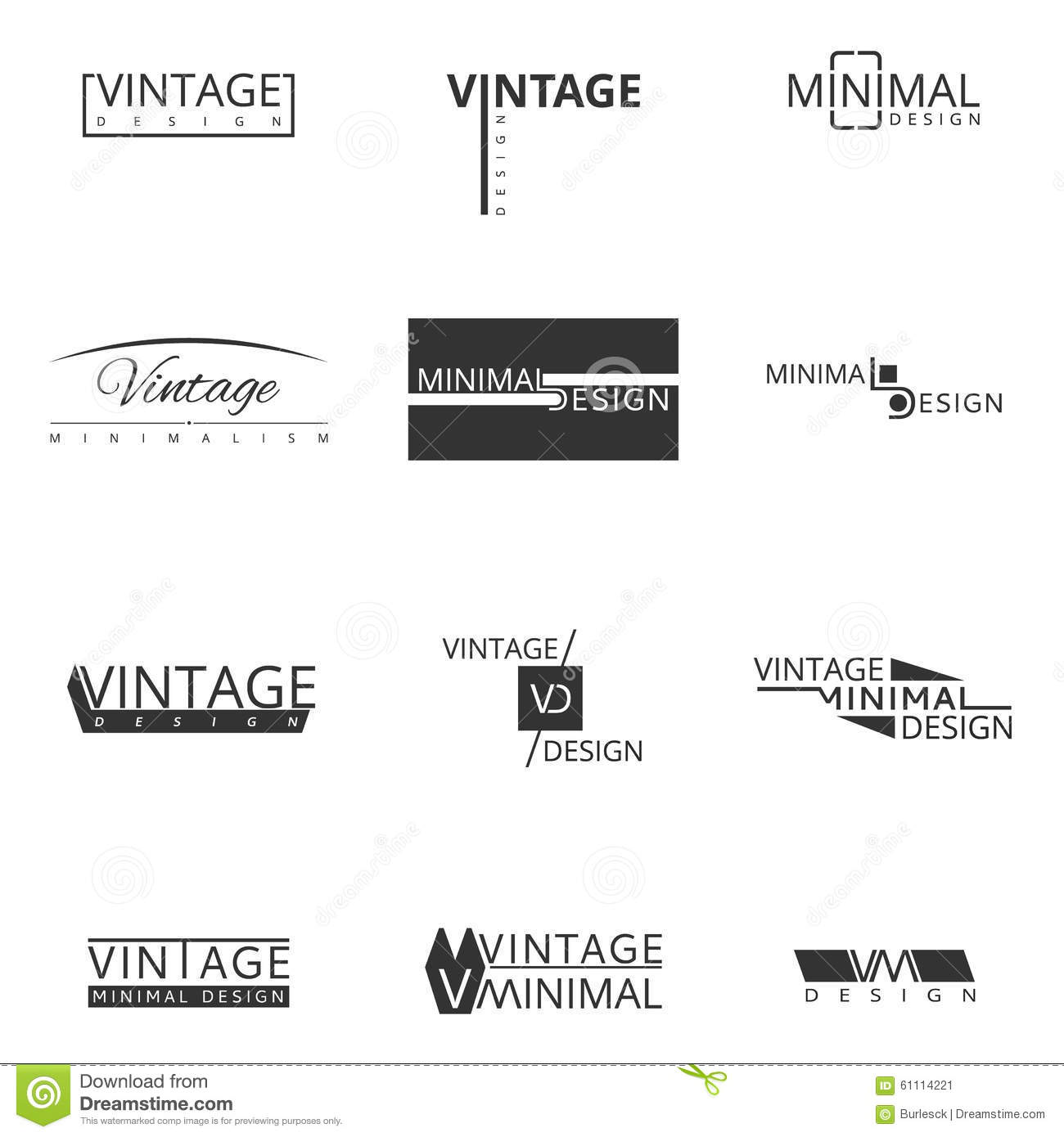 Minimal modern logo design for brand stock vector image Branding and logo design companies