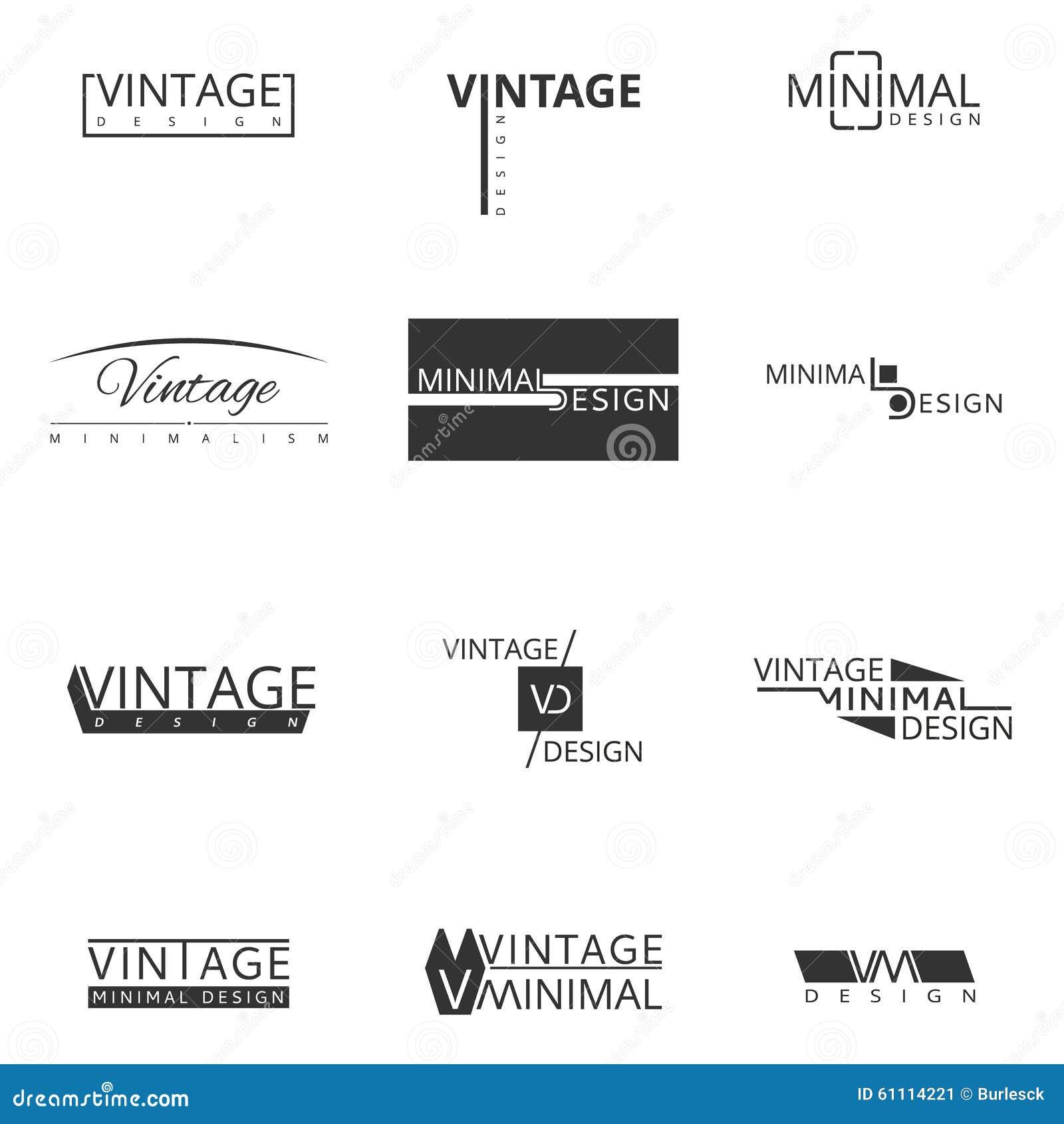 Minimal modern logo design for brand stock vector image Branding and logo design companies