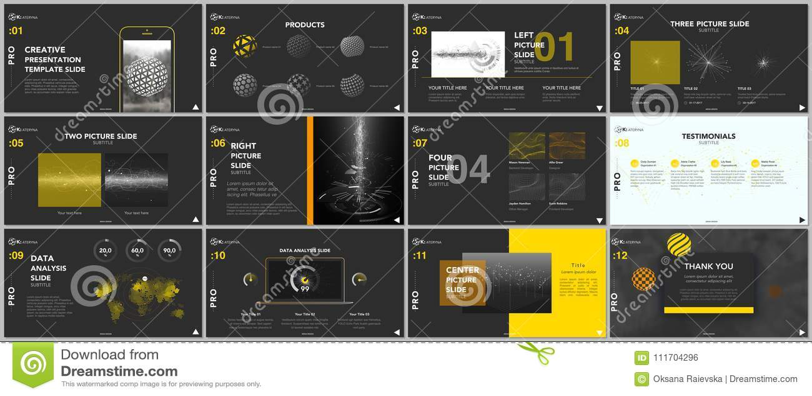 minimal presentation templates tech elements stock vector