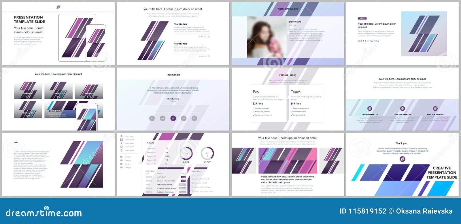 Minimal Presentations Portfolio Templates Simple Elements On White