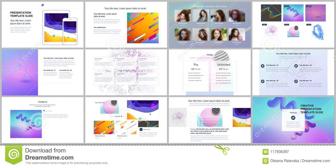 download minimal presentations portfolio templates simple elements on white background brochure cover vector