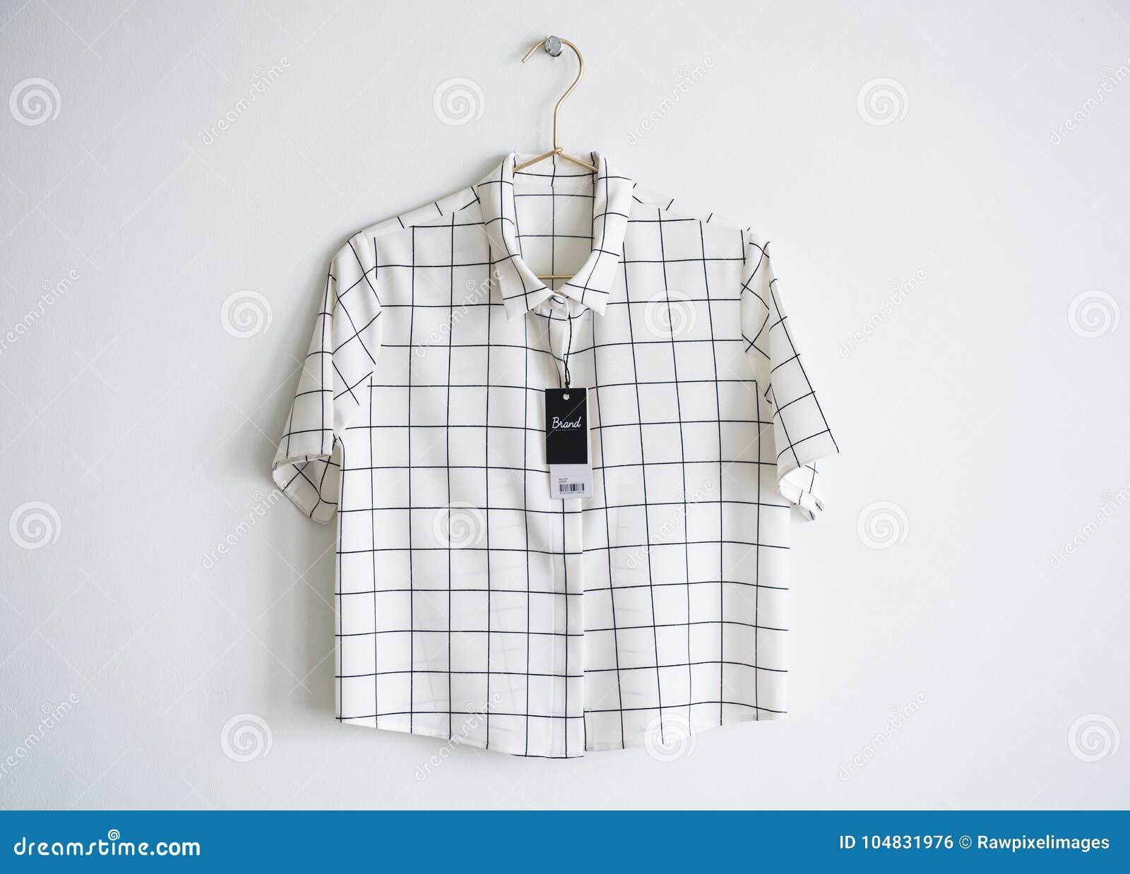 Minimal shirt design with price tag