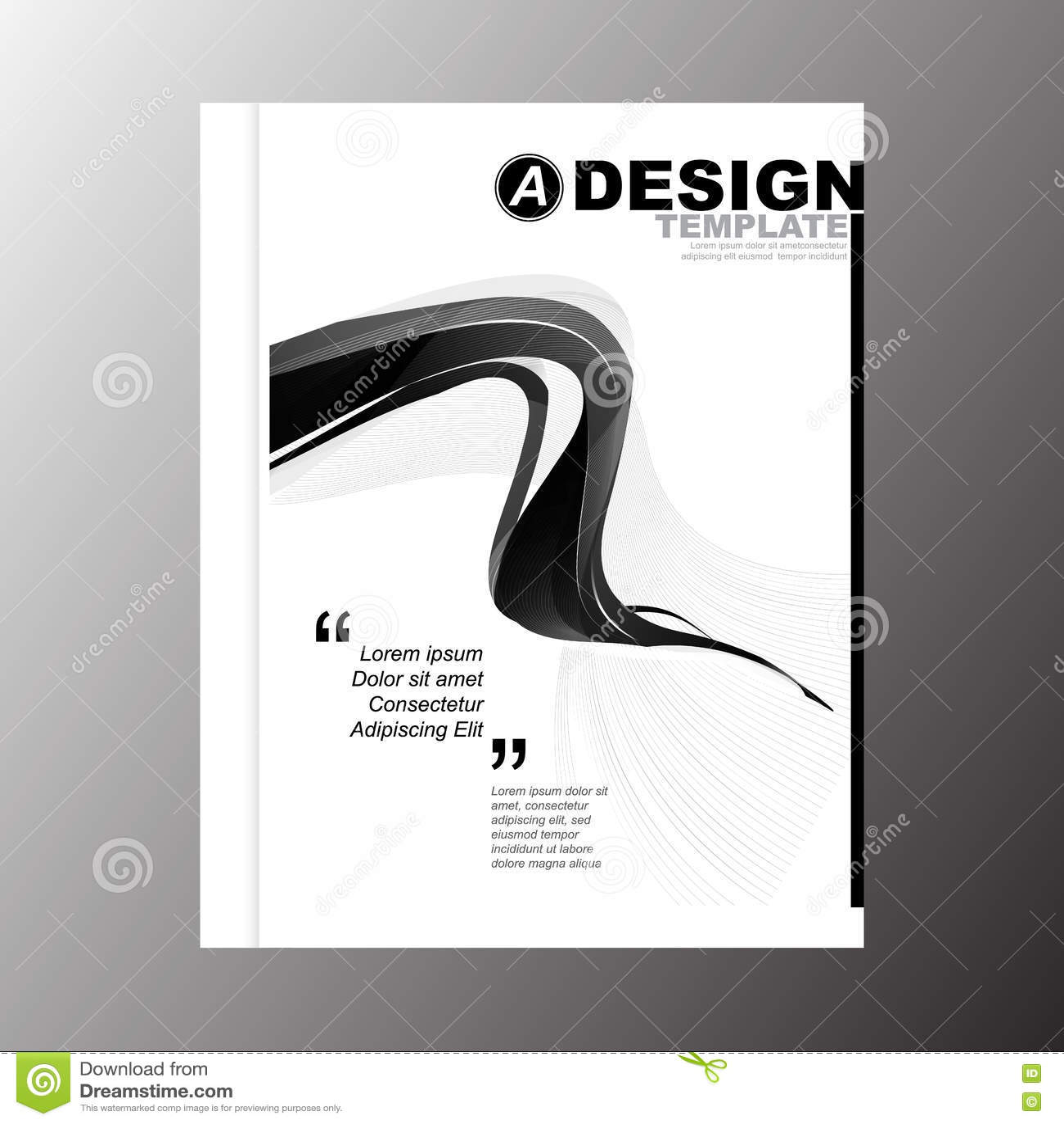 Minimal Simple Black Stripe Color Wave Design Template Background – Simple Annual Report Template