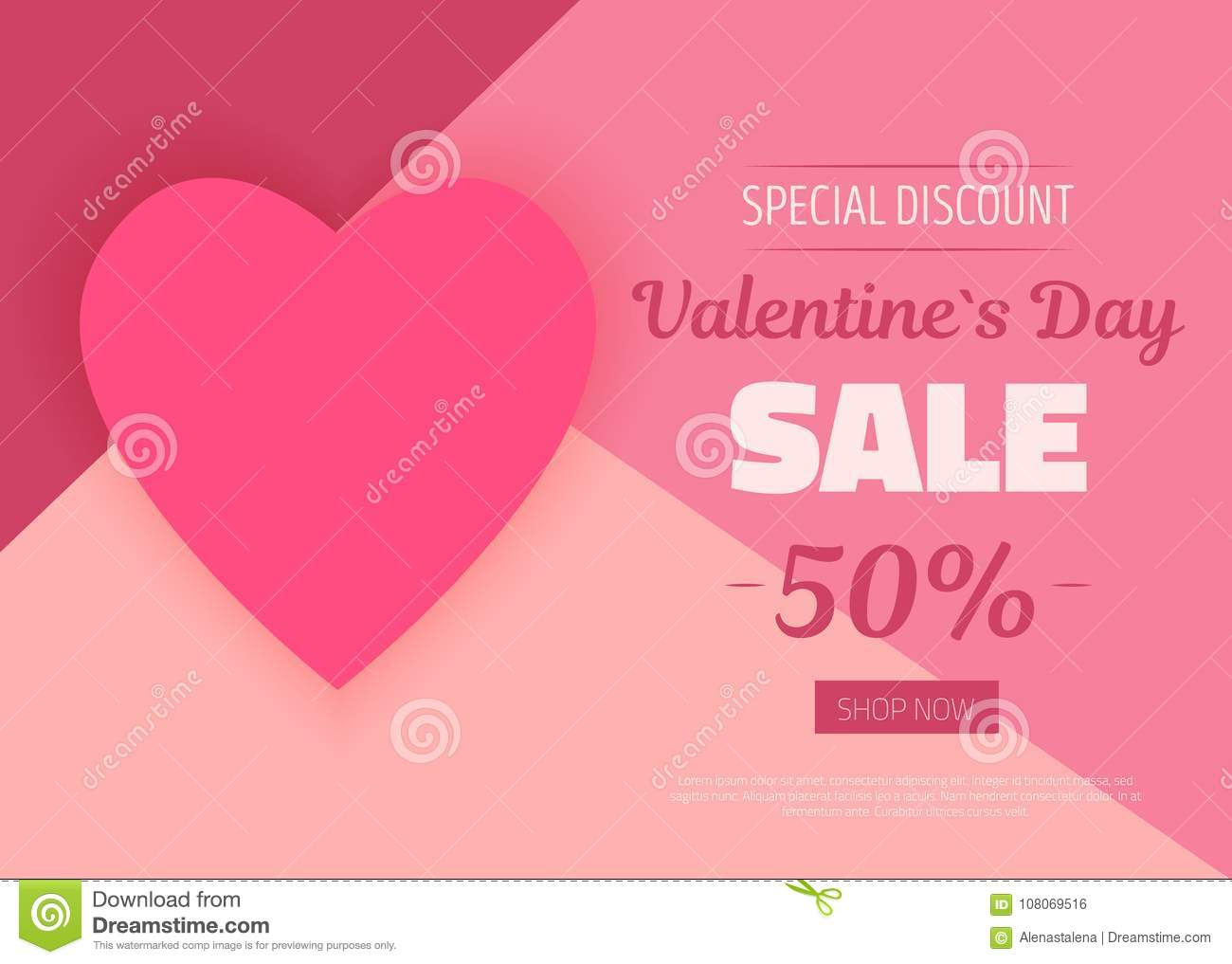 Minimal Valentine Day Card Gift Card In Pink Colors Romantic