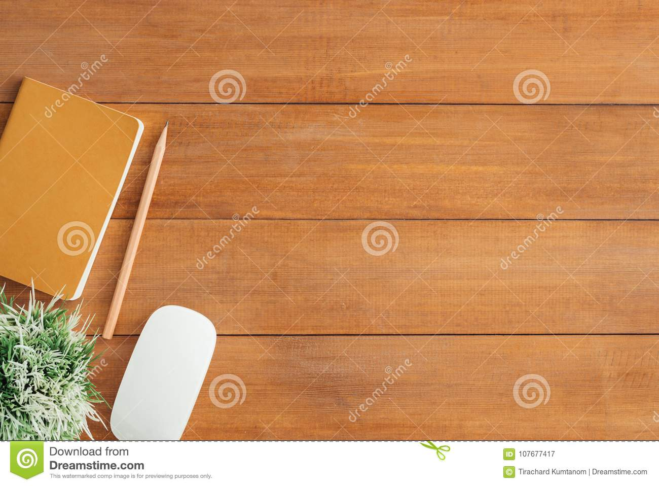 table background green office desk wooden table background with mock up notebooks and pencil plant desk wooden table background with mock up notebooks and