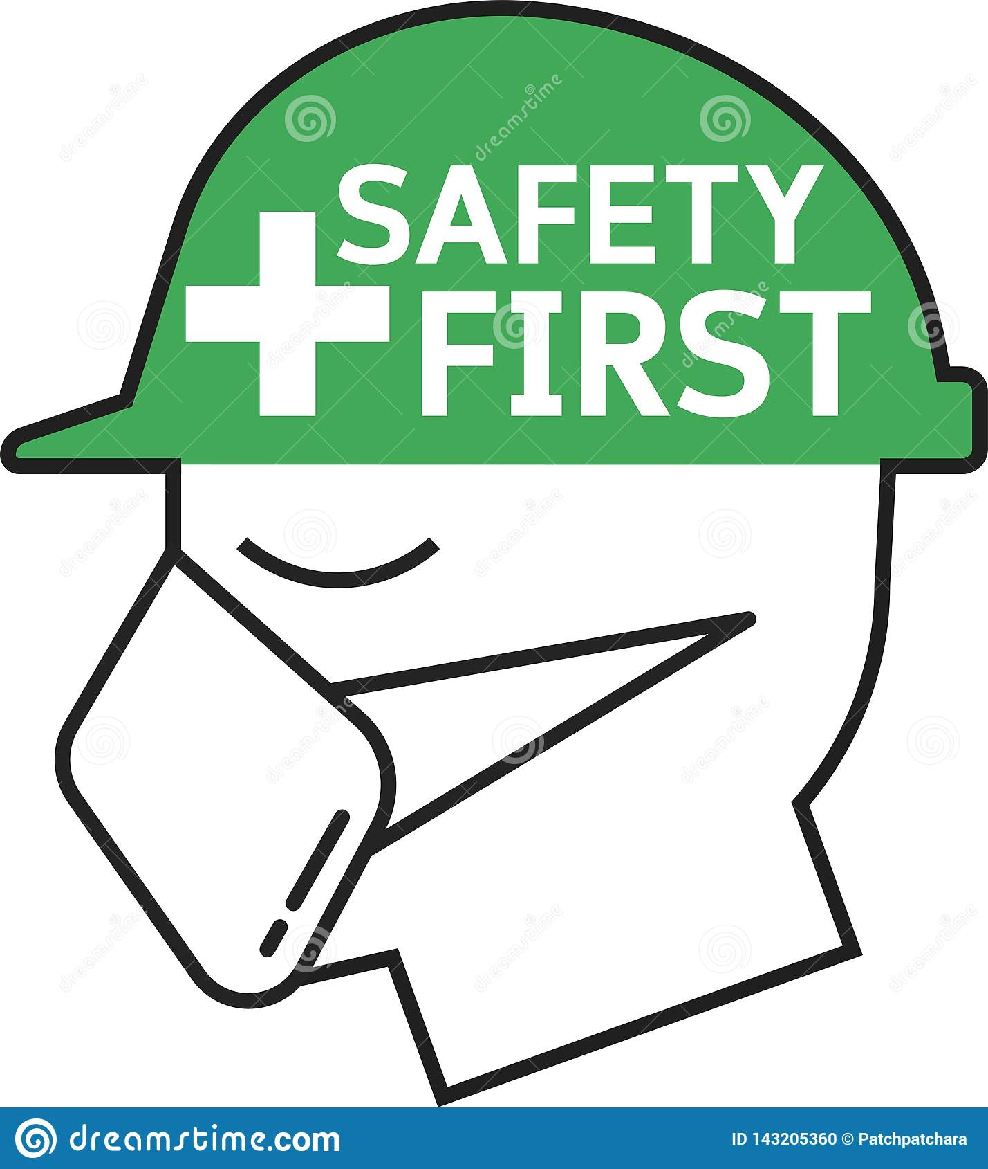 Minimale erste Ikone der Sicherheit