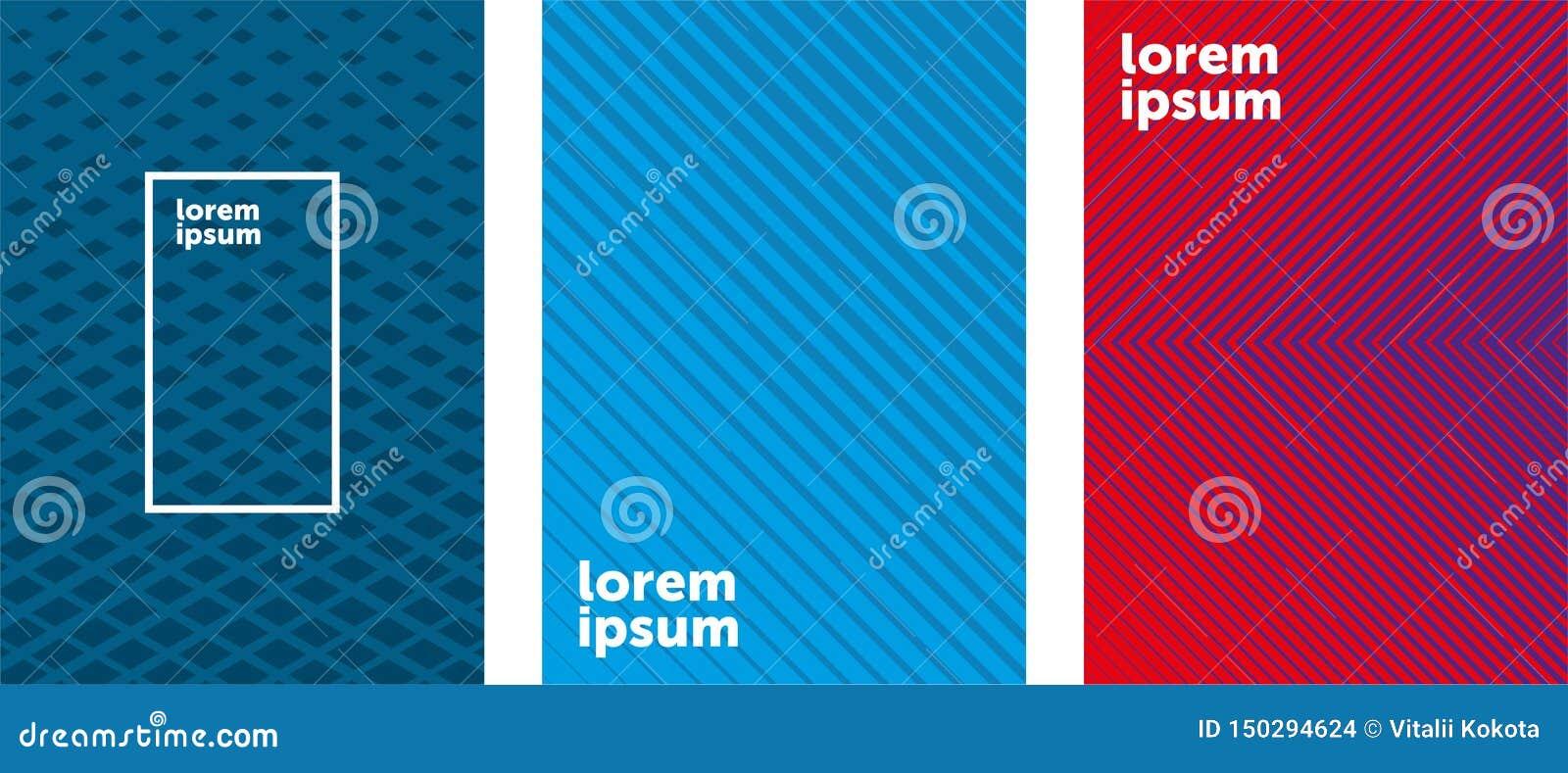 Minimales Abdeckungsdesign Bunte Halbtonsteigungen Zuk?nftige geometrische Muster EPS10