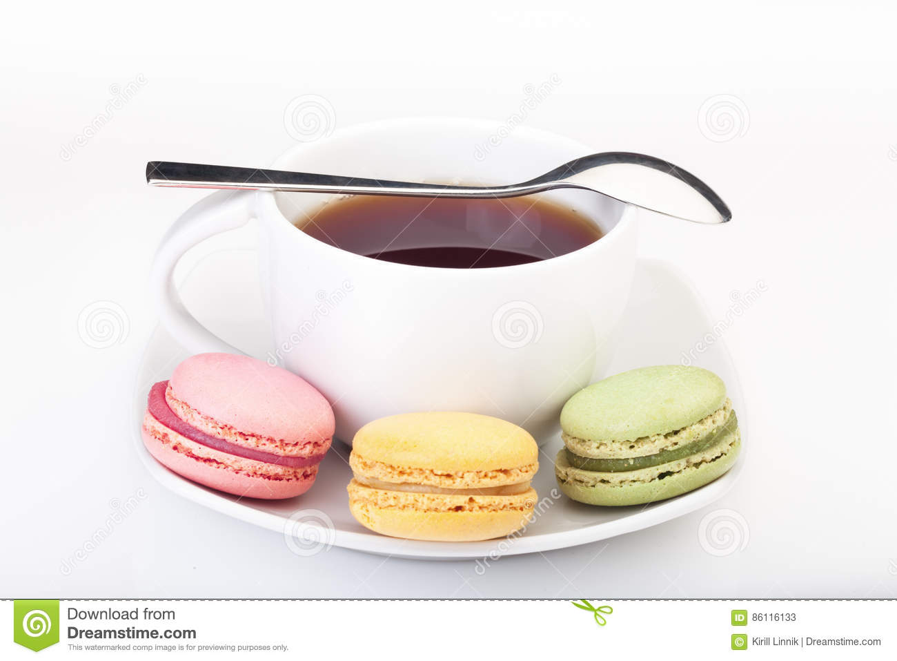 Download Minimalism: English Tea And French Macaroons Stock Image - Image of confection, assortment: 86116133