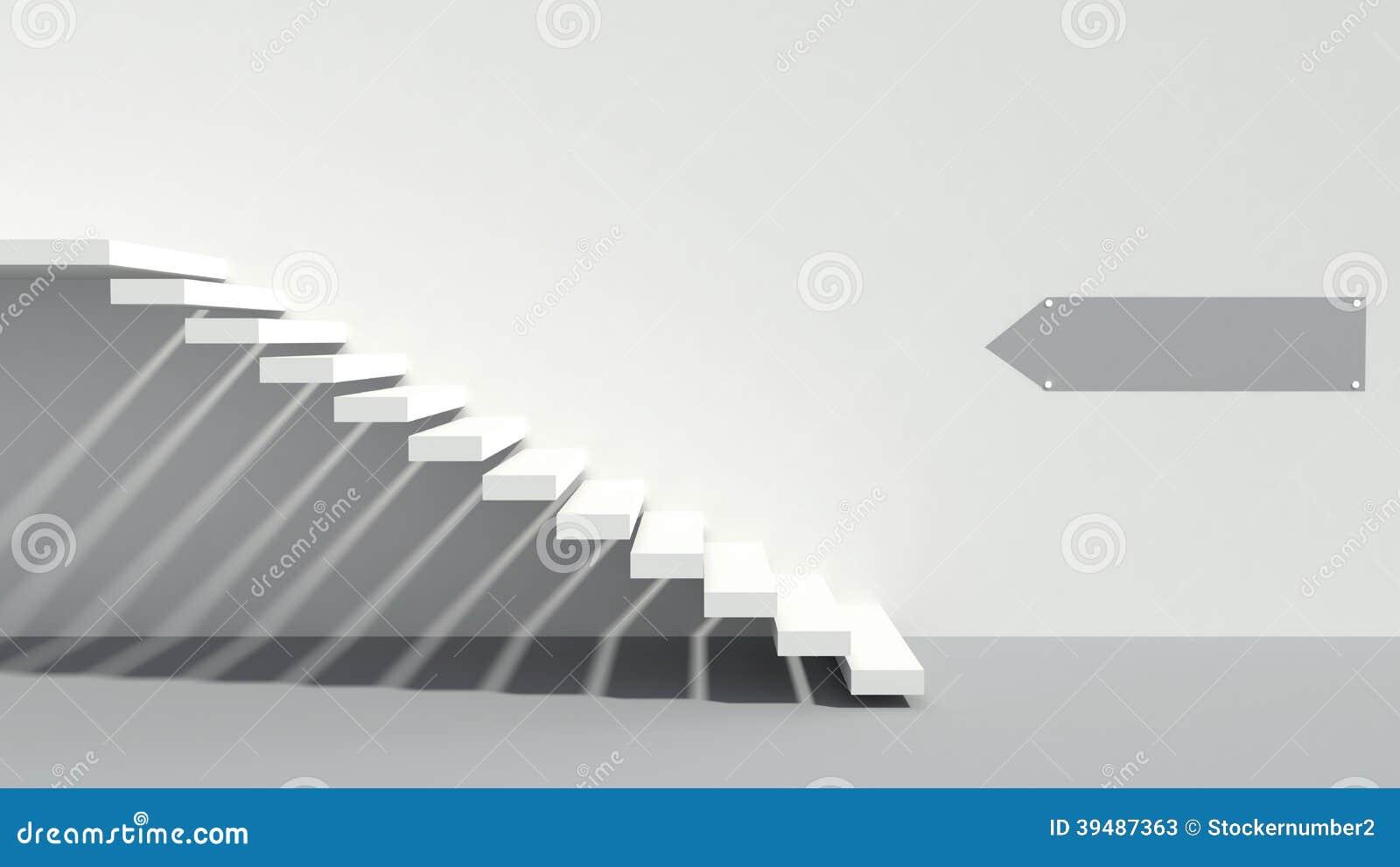 Minimalism style stairs stock illustration. Illustration ...
