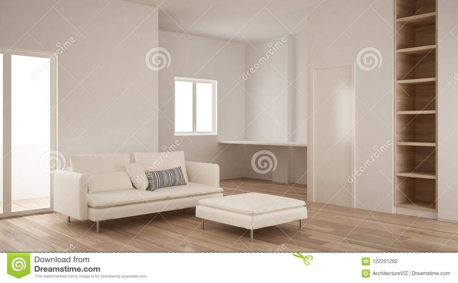 Minimalisme Conception Interieure Moderne De Salon Avec L