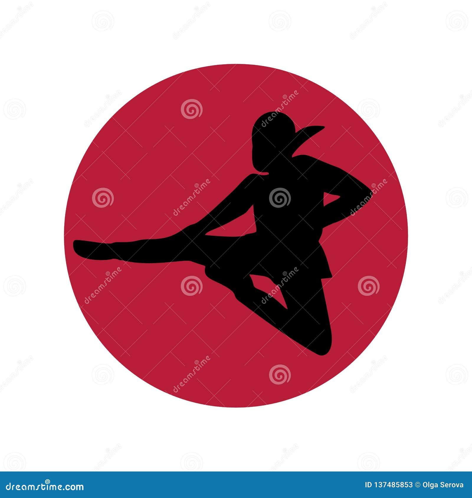 Minimalismo del logotipo de Ninja